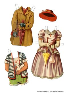 Libby Swedish 1940s* For lots of free Christmas paper dolls International Paper Doll Society #ArielleGabriel artist #ArtrA thanks to Pinterest paper doll & holiday collectors for sharing *