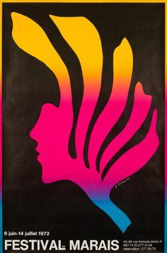 Original Vintage Poster Festival Marais Cieslewicz 70s