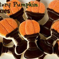 Glittery Pumpkin Cookies