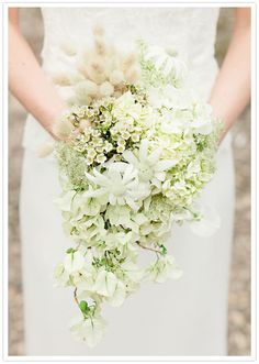 white floral wedding bouquet
