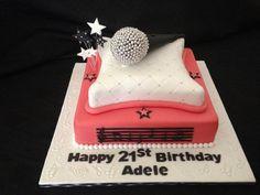 Microphone Birthday Cake | Microphone 21st Birthday Cake. 10… | Flickr