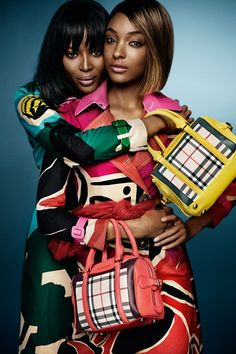 Jourdan Dunn and Naomi Campbell for Burberry