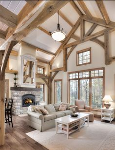 Home Decor Living Room .Home Decor Living Room Timber Frame Homes, Timber Frames, Luxury Cabin, Cabana, Cheap Home Decor, Great Rooms, My Dream Home, Home Remodeling, Building A House