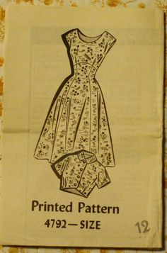 Mail Order 4792 1950s Dress & Bolero Sewing by EleanorMeriwether, $14.00