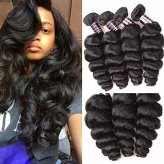 3 Bundles Loose Wave Virgin Peruvian Hair