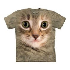 Kitten Face T-Shirt Adult, $17, now featured on Fab.