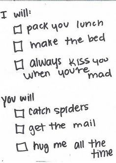 Dear Future Husband. Haha be more like mice for me cause I ain't scared of I spiders <3 lol