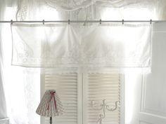 Vintage Gardinen - ~♡~  Shabby chic Gardine aus alten Spitzen  ~♡~ - ein Designerstück von kuki-kuki bei DaWanda