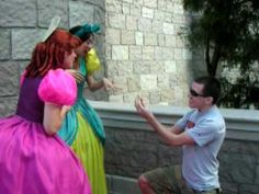 Disney Fan Proposes to the Step Sisters, yet another reason why I love Disney Castmembers...This is hilarious!