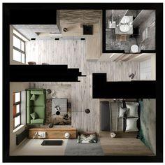 65 Ideas Small House Plans Modern Studio Apartments For 2020 Small Apartment Layout, Small Studio Apartment Design, Small Apartment Interior, Studio Apartment Decorating, Small House Design, Small Apartments, Studio Apartments, Small House Plans, House Floor Plans