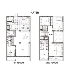 분당 구미동 한신 타운하우스 인테리어 (89py) Worked by Hansung I.D - #타운하우스인테리어 #80평대... Small Apartment Plans, Small Apartments, Basement House, Interior Sketch, Architecture Plan, 2nd Floor, House Plans, Floor Plans, House Design