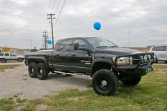 I saw this parked outside a car dealership, That is a true 6x6 pickup. The original owner used it to travel the ice roads of the Alaskan tundra. That front bumper could take down a polar bear. Extra range Fuel tank, custom interior, with DVD players and GPS.