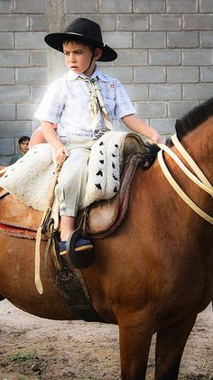 Gaucho desde chico... .tradition! In keeping with my own story, http://www.amazon.com/With-Love-The-Argentina-Family/dp/1478205458