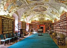 Strahov Monastery Library in Prague. Oh how I love a great library. Cruise Travel, Summer Travel, Budapest, Prague Tours, Travel Specials, Central And Eastern Europe, Small Group Tours, Vacation Packages, Warsaw