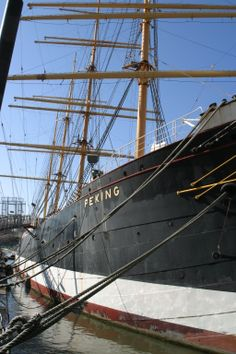 One of the last of the tall ships… the great bark Peking, now preserved at the South Street Seaport Museum in New York City.