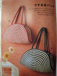 Сумки, связанные крючком. Bags crocheted Scan Pattern