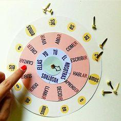 Rueda CONJUGACIONES. Descargala en www.lapizdeele.com