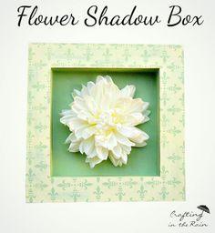 Framed Flower Shadow Box | Crafting in the Rain