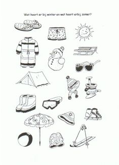 Month Weather, Weather For Kids, Preschool Worksheets, Preschool Activities, Hidden Pictures Printables, Seasons Of The Year, Speech Therapy, Felt Crafts, Coloring Pages