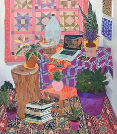 Find the latest shows, biography, and artworks for sale by Anna Valdez. Anna Valdez's artistic career began unexpectedly: during an archaeological dig, she f… Art Inspo, Painting Inspiration, Anna Valdez, Ouvrages D'art, Art Et Illustration, Animal Illustrations, Wow Art, Art Design, New Wall