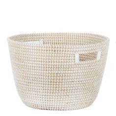 Nina Woven Storage Basket - Large - White