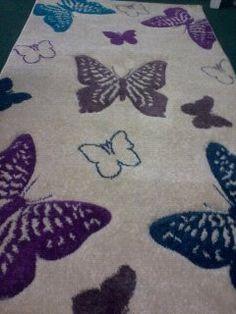new pretty butterfly rug 80 x 150 | eBay