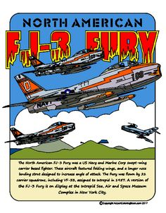 FJ-3 Fury finished image airport coloring book