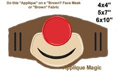 Reindeer for Face Mask Christmas Machine Applique Design Embroidery Pattern 4x4 5x7 6x10 INSTANT DOWNLOAD by AppliqueMagic on Etsy Machine Applique Designs, Machine Embroidery Patterns, Tiger Face Mask, Different Types Of Fabric, Red Nose, W 6, Digital Pattern, Reindeer, Pattern Design