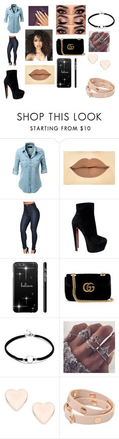 """""""Cute outfit #4"""" by theforsakenangel on Polyvore featuring LE3NO, ASAP, Christian Louboutin, Gucci, Ted Baker and Tory Burch"""