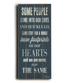 Look at this #zulilyfind! 'Some People' Wall Art #zulilyfinds