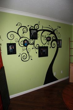 family tree wall art--LOVE!!!