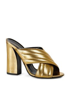 oh lawdy, THESE shoes!! Gucci Sylvia Slide High Heel Sandals   Bloomingdale's