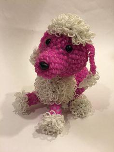 Poodle Rubber Band Figure by BBLNCreations on Etsy Loomigurumi Amigurumi Rainbow Loom