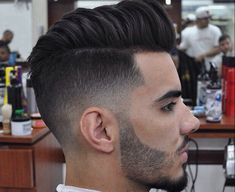 nice Men Hairstyles With Undercut And With Sideburns Shaved Thin Look Fresh Check more at http://haircutfit.com/men-hairstyles-with-undercut-and-with-sideburns-shaved-thin-look-fresh.html