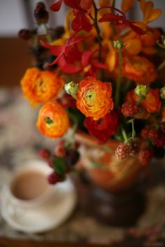 Ranunculus are one of my favourite flowers.