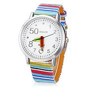 Women's Pencil Pointer Round Dial Colorful PU... – USD $ 8.99
