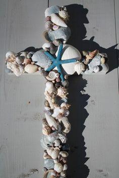 Religious Crosses   Seashell Cross/Beach Wedding Cross by My Honeypickles on Etsy www.etsy ...