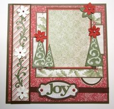 Everyday Cricut: Joy Christmas Layout with Close to My Heart CTMH Art Philosophy! Christmas Scrapbook Layouts, Scrapbook Paper Crafts, Scrapbooking Ideas, Digital Scrapbooking, Scrapbook Sketches, Scrapbook Page Layouts, Scrapbook Designs, Baby Scrapbook, Scrapbook Cards