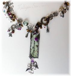 """Everything but the """"Kitchen Sink"""" necklace.  Kate from MulliganStewJewelry.com"""