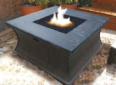 A fire pit is great for any seating or lounge area Cozy up to