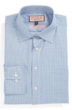 06f71ab32e Thomas Pink Slim Fit Traveller Dress Shirt
