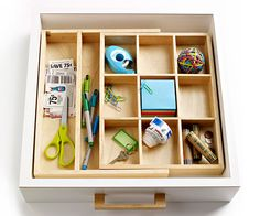 Love this junk drawer organizer.