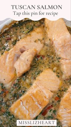Click this pin for recipe! ✨🤍 You will fall in love with this creamy and flavorful tuscan recipe! You'll never make salmon the same again, I promise 😜