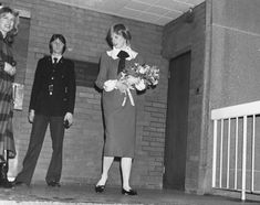 February 11, 1982:  Princess Diana leaves ITN (Independent Television Network) after a two-hour visit.