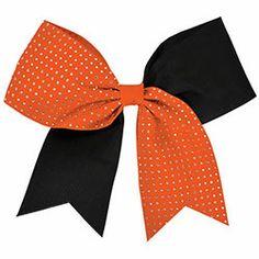 Rhinestoned Cheerleading Performance Hair Bow
