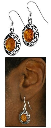 Amber & Sterling Maze Earrings at The Rainforest Site