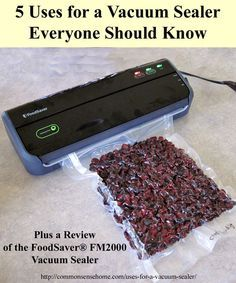 5 Uses for a Vacuum Sealer Everyone Should Know, Plus FoodSaver® FM2000 Vacuum Sealer Review and Giveaway. Vacuum Sealers protect more than just food.