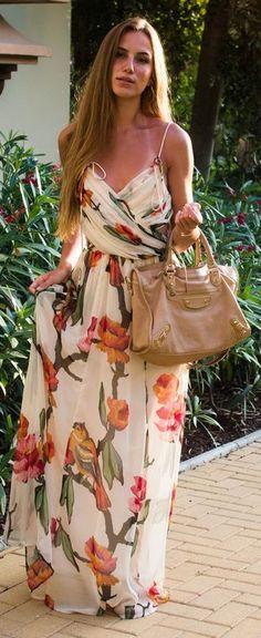Sandra Willer Floral Maxi Dress