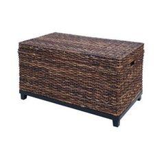 Target Home Global Dark Trunk - ottoman for blanket storage if no linen closet?