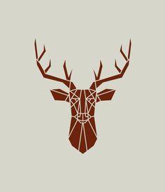 Troph e chasse dessin recherche google giant cross for Tete de cerf decoration